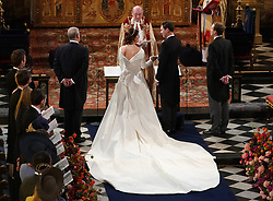 Royal wedding of Princess Eugenie and Jack Brooksbank at Windsor Castle. 12 Oct 2018 Pictured: Princess Eugenie and Jack Brooksbank. Photo credit: WPA Pool/Mega TheMegaAgency.com +1 888 505 6342