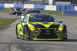 March 14, 2019 - Sebring, Etats Unis - 12 AIM VASSER SULLIVAN (USA) LEXUS RC F GT3 GTD FRANK MONTECALVO (USA) TOWNSEND BELL (USA) AARON TELITZ  (Credit Image: © Panoramic via ZUMA Press)