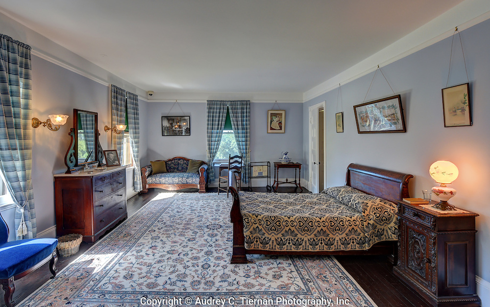 Oyster Bay, NY,  September 14, 2015: ---   Sagamore Hill was the home of the 26th president of the United States, Theodore Roosevelt. The home recently underwent a ten million dollar renovation.  This is the gate room The Gate which was used as a playroom and day nursery and had<br /> a wooden gate across the doorway.  It eventually became Ethel's bedroom. &copy; Audrey C. Tiernan
