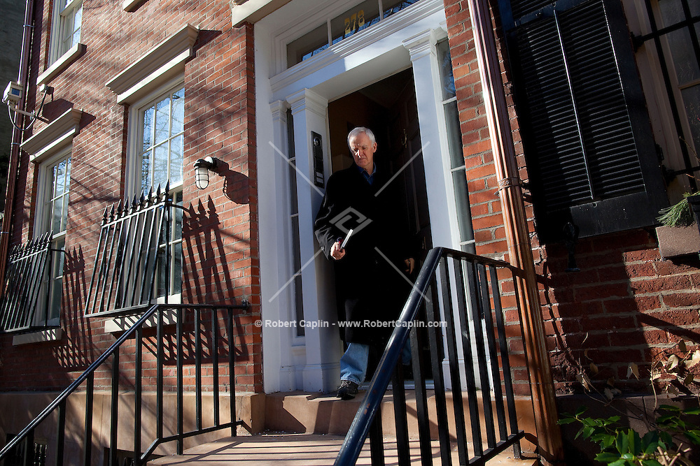 "Joseph Robert ""Bob"" Kerrey leaves his Greenwich Village home in New York to run some Sunday afternoon errands. Kerry was the 35th Governor of Nebraska from 1983 to 1987 and a U.S. Senator from Nebraska (1989-2001). Having served in the Vietnam War, earning the Medal of Honor for his actions, he moved into politics. He was an unsuccessful candidate for the Democratic presidential nomination in 1992. Since leaving the Senate he has served as president of The New School and served on the 9/11 commission."