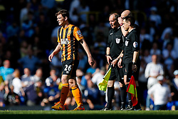 Andrew Robertson looks dejected after Hull City lose 2-0 to Tottenham Hotspur - Photo mandatory by-line: Rogan Thomson/JMP - 07966 386802 - 16/05/2015 - SPORT - FOOTBALL - London, England - White Hart Lane - Tottenham Hotspur v Hull City - Barclays Premier League.