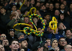 Derby County supporters with inflatable snakes