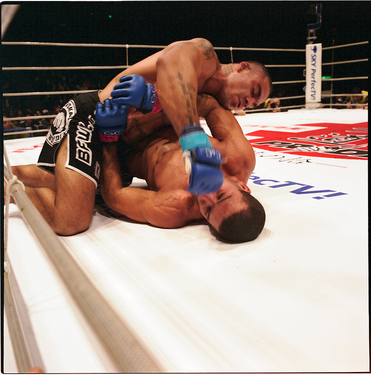 Paul Filho (on top)  def Murilo Ninja both  fighters are form  Brazil..BUSHIDO Extreme Martial Art fighting Rules are quite limited and fights usually carry on past the bloody nose stage.  It's  very popular in Japan, goes out on primetime TV, fighters get paid as much as 4 million US Dollars a fight and are seen as celebs. Crowd consist of young families, couples etc. Piece will look at why sport is so successful in Japan, appealing to so called 'lost generation' of young people suffering from effects of collapse of economy/rise of unemployment.