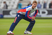 Joe Root warming up  ahead of the 2nd day of the Investec Ashes Test match between England and Australia at Trent Bridge, Nottingham, United Kingdom on 7 August 2015. Photo by Shane Healey.