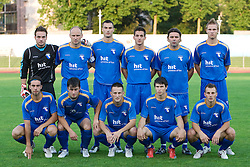 Team of Gorica at 1st football match of 2nd preliminary Round of UEFA Europe League between ND Gorica and FC Lahti, on July 16 2009, in Nova Gorica, Slovenia. (Photo by Vid Ponikvar / Sportida)