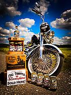 "Full Throttle Saloon ""Sloonshine"" product shoot with ""Senior,"" San Antonio, Texas, 2015"