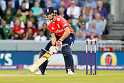 Joe Root batting during the International T20 match between England and Pakistan at the Emirates, Old Trafford, Manchester, United Kingdom on 7 September 2016. Photo by Craig Galloway.