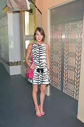 ELLA CATLIFF at the Tiffany & Co. Exhibition 'Fifth And 57th' Opening Night held in The Old Selfridges Hotel, Orchard Street, London on 1st July 2015.