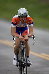 Michael Esbach (UVA) races in Stage 1 of the Tour of Virginia..The Tour of Virginia began with a 4.7 mile individual time trial near Natural Bridge, VA on April 24, 2007. Formerly known as the Tour of Shenandoah, the ToV has gained National Race Calendar (NRC) status for the first time in its five year history.