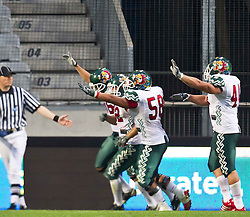 12.07.2011, Tivoli Stadion, Innsbruck, AUT, American Football WM 2011, Group A, United States of America (USA) vs Mexico (MEX), im Bild Mexico bejubelt einen Touchdown // during the American Football World Championship 2011 Group A game, USA vs Mexico, at Tivoli Stadion, Innsbruck, 2011-07-12, EXPA Pictures © 2011, PhotoCredit: EXPA/ J. Feichter