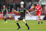 Forest Green Rovers Carl Winchester(7) during the EFL Sky Bet League 2 match between Crawley Town and Forest Green Rovers at The People's Pension Stadium, Crawley, England on 6 April 2019.