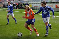 ÅLESUND 20110212. Aalesunds Jonathan Parr (tv) under treningskampen i fotball mellom Aalesund og Hødd på Color Line Stadion i Ålesund lørdag ettermiddag.<br /> Foto: Svein Ove Ekornesvåg