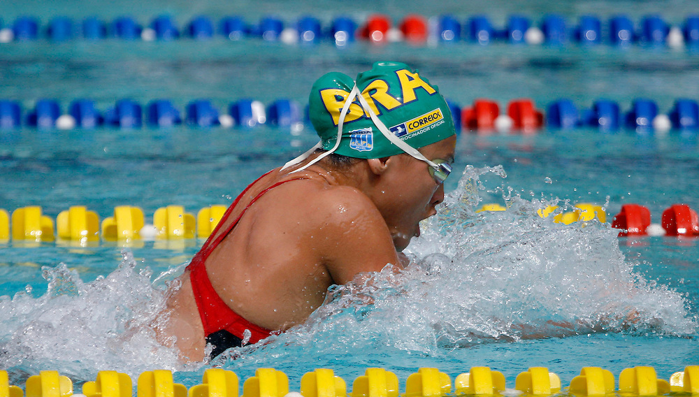 Belo Horizonte_MG, Brasil...Copa do Mundo de Natacao 2007. Na foto a nadadora Tatiane Mayumi, do Brasil, vencedora da prova de 50m Peito, em Belo Horizonte...Swimming World Cup 2007. In this photo the swimmer Tatiane Mayumi, of Brazil, She is the champion in the 50m Breaststroke, in Belo Horizonte...Foto: LEO DRUMOND /  NITRO