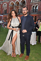 Lisa Snowdon and George Smart at the Victoria & Albert Museum's Summer Party in partnership with Harrods at The V&A Museum, Exhibition Road, London, England. 20 June 2018.