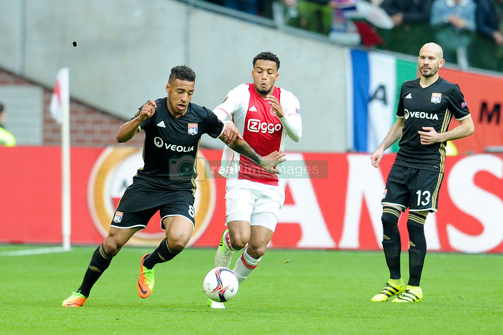May 3, 2017 - Amsterdam, France - 08 CORENTIN TOLISSO (ol) - 13 CHRISTOPHE JALLET (ol) - 02 Kenny Tete  (Credit Image: © Panoramic via ZUMA Press)