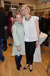 Left to right, FIONA BALCH and KATE SKRYPEC at the launch of 'Your Hormone Doctor' a book by Leah Hardy, Susie Rogers and Dr Daniel Sister held at The Library, 206-208 Kensington Park Road, London W11 on 8thMay 2014.