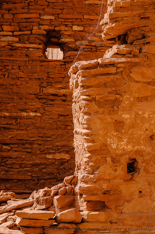 Arch Canyon ruins window and wall detail; Cedar Mesa, UT
