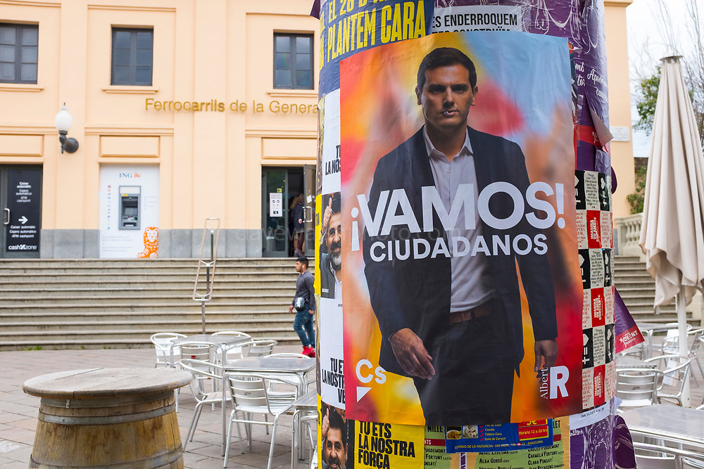 Vamos! Albert Rivera, leader of Ciudadanos, poster, National Election, Spain, April 2019