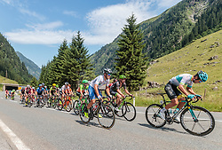07.07.2017, St. Johann Alpendorf, AUT, Ö-Tour, Österreich Radrundfahrt 2017, 5. Kitzbühel - St. Johann/Alpendorf (212,5 km), im Bild Vincenzo Albanese (ITA, Nationale Italiana), Artyom Zakharov (KAZ, Astana Pro Team), Peloton, Feature Felbertauernstrasse // Vincenzo Albanese (ITA, Nationale Italiana), Artyom Zakharov (KAZ, Astana Pro Team), Peloton, Feature Felbertauernstrasse during the 5th stage from Kitzbuehel - St. Johann/Alpendorf (212,5 km) of 2017 Tour of Austria. St. Johann Alpendorf, Austria on 2017/07/07. EXPA Pictures © 2017, PhotoCredit: EXPA/ JFK