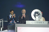 joie PSG / Nasser Al Khelaifi / Frederic Thiriez - 23.05.2015 - PSG / Reims - 38eme journee de Ligue 1<br />