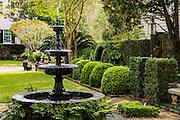 Traditional historic Charleston garden.