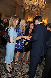 Left to right, RUTH SULLIVAN, ROSIE NIXON, ANNE MILTON MP and The Prime Minister DAVID CAMERON at a reception for Women in Media hosted by the Prime Minister David Cameron at 10 Downing Street, London on16th May 2013.