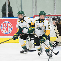 1st year forward Lilla Carpenter-Boesch (17) of the Regina Cougars of the Regina Cougars in action during the Women's Hockey home game on January 7 at Co-operators arena. Credit: Arthur Ward/Arthur Images