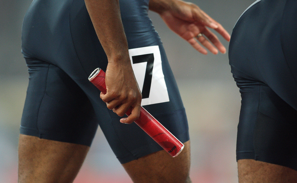 2008 Beijing Olympic Games- Day 7 - Evening- August 21st, 2008 *** Tyson Gay, USA 4x100m relay *** Day 7