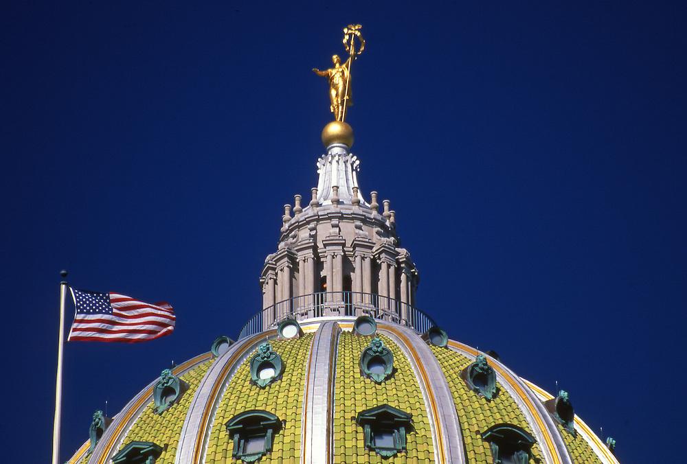 Capitol Dome, Ms. Commonwealth Statue, Harrisburg, Pennsylvania