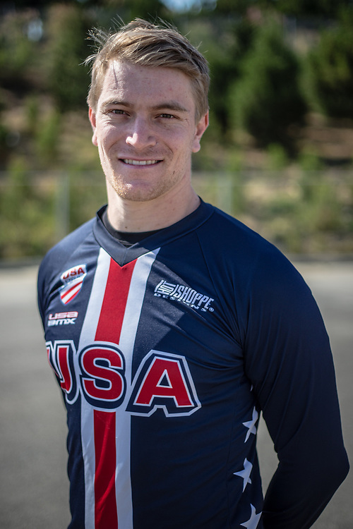 Men Elite #11 (FIELDS Connor) USA at the 2018 UCI BMX World Championships in Baku, Azerbaijan.