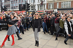 © Licensed to London News Pictures. 06/09/2017. London, UK. Supermodel model KATE MOSS opens Reserved flagship clothing chain store in Oxford Street. Reserved is a Polish clothing store chain, which has more than 1,600 stores located in 18 countries. Photo credit: Ray Tang/LNP