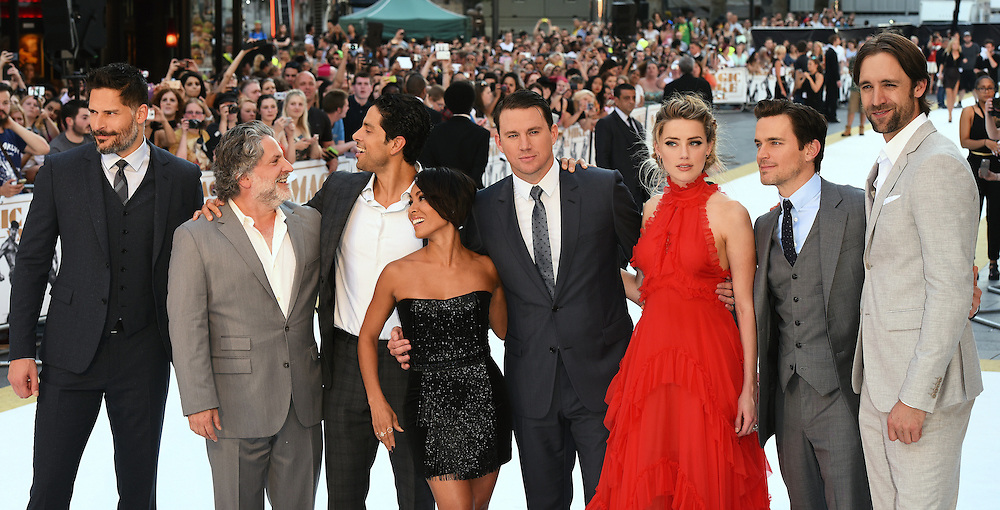 Joe Manganiello, Adam Rodriguez, Jada Pinkett Smith, Channing Tatum, Amber Heard, Matt Bomer and Reid Carolin attend Magic Mike XXL European Premiere at Vue West End, Leicester Square, London  on Tuesday 30 June 2015
