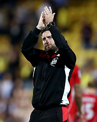 Bristol City head coach Lee Johnson applauds the fans - Mandatory by-line: Robbie Stephenson/JMP - 16/08/2016 - FOOTBALL - Carrow Road - Norwich, England - Norwich City v Bristol City - Sky Bet Championship