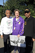 October 15 - Washington, D.C: l to r: Rev. Al Sharpton, founder, National Action Network, Mary K. Henry, president, SEIU, and Rev David Jefferson at National Action Network ' From the Emancipator to the Liberator: Jobs for Justice ' March and Rally held on the Washington Mall on October 15, 2011 in Washington, DC . (Photo by Terrence Jennings/Picturegroup)