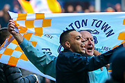 Luton Town fans  invade the pitch at full time during the EFL Sky Bet League 1 match between Luton Town and Oxford United at Kenilworth Road, Luton, England on 4 May 2019.