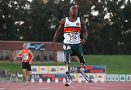 JOHANNESBURG, SOUTH AFRICA - MARCH 22: Ntando Mahlangu in the mens 400m during the ASA Speed Series 4 at Germiston Stadium on March 22, 2017 in Johannesburg, South Africa. (Photo by Roger Sedres/ImageSA)