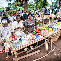 29/05/2014. Cameroon. Mbile. Traditionnaly traders, the Muslims have organized a small market at the Mbile refugees' site. However, most of the refugees have very little money to meet their basic needs and depend on humanitarian assistance.   ©WFP/Sylvain Cherkaoui