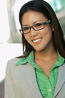 Portrait of mid adult woman wearing glasses