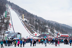 View to Planica during Ski Flying Hill Individual Competition at Day 4 of FIS Ski Jumping World Cup Final 2018, on March 25, 2018 in Planica, Ratece, Slovenia. Photo by Urban Urbanc / Sportida