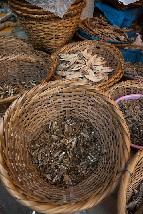 Dried fish in market<br /> Meghalaya,  ne India