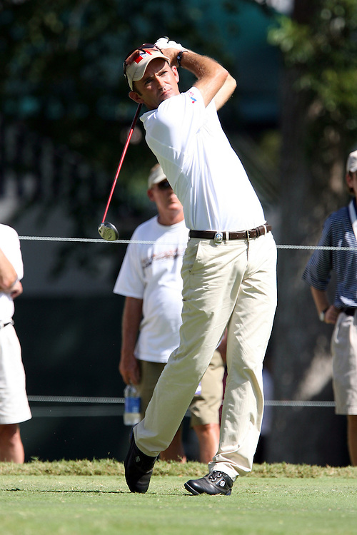 09 August 2007: Markus Brier tees off on the 4th hole during the first round of the 89th PGA Championship at Southern Hills Country Club in Tulsa, OK.