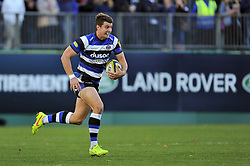 Ollie Devoto of Bath Rugby goes on the attack - Photo mandatory by-line: Patrick Khachfe/JMP - Mobile: 07966 386802 01/11/2014 - SPORT - RUGBY UNION - Bath - The Recreation Ground - Bath Rugby v London Welsh - LV= Cup
