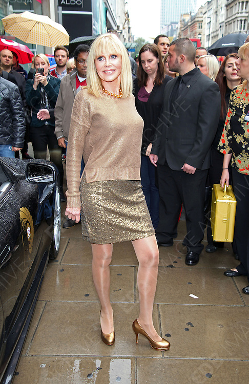 24.SEPTEMBER.2012. LONDON<br /> <br /> BRITT EKLAND AND RICHARD KIEL PROMOTES THE 50 BLU-RAY COLLECTION OF JAMES BOND FILMS AT HMV IN LONDON.<br /> <br /> BYLINE: EDBIMAGEARCHIVE.CO.UK<br /> <br /> *THIS IMAGE IS STRICTLY FOR UK NEWSPAPERS AND MAGAZINES ONLY*<br /> *FOR WORLD WIDE SALES AND WEB USE PLEASE CONTACT EDBIMAGEARCHIVE - 0208 954 5968*