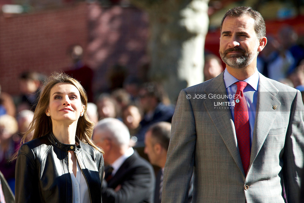 Prince Felipe of Spain and Princess Letizia of Spain visit the village of Teverga on October 26, 2013 in Asturias, Spain. The village of Teverga was honoured as the 2013 Best Asturian Village during the 'Prince Asturias Awards 2013'.