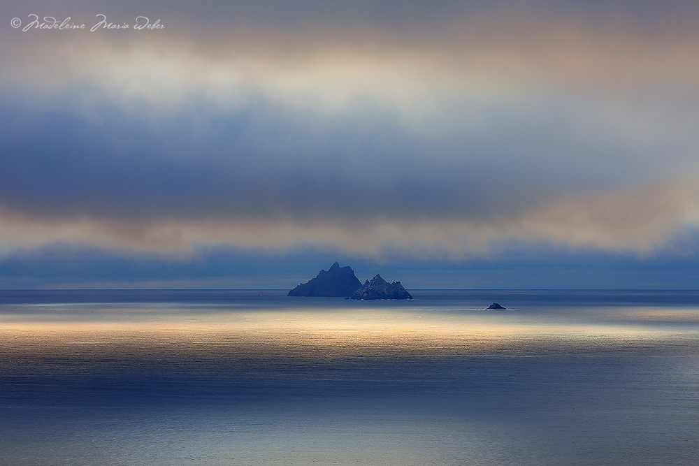 Mystical Sunset Light over Skellig Michael and Little Skellig Island, County Kerry, ireland / sk034 I love the Skelligs, ****** <br /> <br /> Visit &amp; browse through my Photography &amp; Art Gallery, located on the Wild Atlantic Way &amp; Skellig Ring between Waterville and Ballinskelligs (Skellig Coast R567), only 3 minutes from the main Ring of Kerry road.<br /> https://goo.gl/maps/syg6bd3KQtw<br /> <br /> ******<br /> <br /> Contact: 085 7803273 from an Irish mobile phone or +353 85 7803273 from an international mobile phone