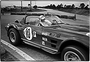 Sebring 12-Hour Race  &bull;  March 26, 1966  &bull;  <br /> #10 Chevrolet Corvette GS roadster &gt; Dick Thompson driving thru hairpin/ co-driver Dick Guldstrand - DNF (47th)