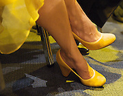 Liberal Democrats<br /> Autumn Conference 2011 <br /> at the ICC, Birmingham, Great Britain <br /> <br /> 17th to 21st September 2011 <br /> <br /> <br /> Miriam Gonzalez Durantez (shoes)<br /> watching Nick Clegg's speech <br /> <br /> <br /> Rt Hon Nick Clegg MP<br /> Leader of the Liberal Democrats<br /> Deputy Prime Minister<br /> Speech <br /> <br /> Photograph by Elliott Franks