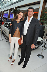 EDUARDO TEODORANI-FABBRI and DAVINA de FOREST CORNISH at a VIP dinner hosted by Maserati following the unveiling of the new Maserati 'Quattroporte' at The Hurlingham Club, London on 17th April 2013.