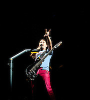 Matthew Bellamy of Muse performs during the L.A. Rising Festival at L.A. Coliseum July 30 2011