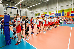 20170525 NED: 2018 FIVB Volleyball World Championship qualification, Koog aan de Zaan<br />Players wishing each other a fair play game<br />©2017-FotoHoogendoorn.nl / Pim Waslander